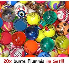 Lg-Imports 20x Bunte lustige Flummis Gummiball
