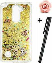 LG Stylus 2 Hülle,LG G Stylo 2 LS775 Glitzer Case,TOYYM Ultra Dünn Fließen Flüssig Treibsand Glitzer Trasparent Kristall Klar TPU Schutzhülle with 3D Kreative Design Muster und Ornament für LG Stylus 2/G Stylo 2/LS775,Glitter Silikon Hülle Schale Etui Tasche Case Cover Handytasche Sparkle Stars für LG Stylus 2/G Stylo 2/LS775-#3