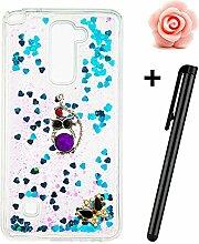 LG Stylus 2 Hülle,LG G Stylo 2 LS775 Glitzer Case,TOYYM Ultra Dünn Fließen Flüssig Treibsand Glitzer Trasparent Kristall Klar TPU Schutzhülle with 3D Kreative Design Muster und Ornament für LG Stylus 2/G Stylo 2/LS775,Glitter Silikon Hülle Schale Etui Tasche Case Cover Handytasche Sparkle Stars für LG Stylus 2/G Stylo 2/LS775-#12