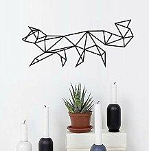 Lglays Geometrische Fox Wandaufkleber Wohnzimmer