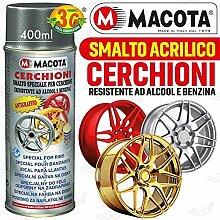 lgvelettronicasrl Lack hellblau metallic Rollen Spray macota Nagellack speziell für Felgen–Cod. 05699