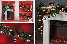 LGVSHOPPING Weihnachtsgirlande für Haus 270 cm