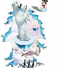 LGXINGLIyidian Kreative 3D Eisbär Pinguin Boden
