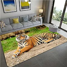 LGXINGLIyidian Teppich Gruseliger Tiger-Gepard 3D
