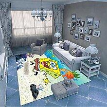 LGXINGLIyidian Teppich Ocean Spongebob 3D Druckte