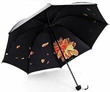 LGZOOT Frauen Regenschirm Sonnenschutz Schirme UV Sonnenschirm Faltender Regenschirm Regenschirm Regenschirm Geschenk,Monthchildyellow