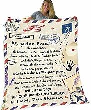 LGZY Personalisierte Deutsche Nachricht Briefdecke
