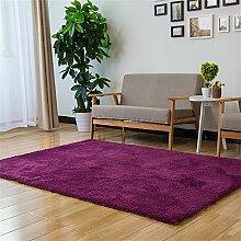 LH-RUG Bequemer Teppich aus weichem Teppich Modern Simplicity Wohnzimmer Couchtisch Sofa Teppich Schlafzimmer Bedside Rechteckige Bett Decke Solid Color Fashion Teppich Licht Lila Bürodekorationsteppich ( größe : 70*140cm )