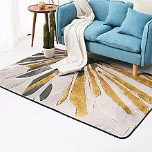LH-RUG Bequemer Teppich aus weichem Teppich Nordic Living Room Teppich Europäisch Einfach Modern Modern Schlafzimmer Teppich Couchtisch Sofa Zimmer Nachttisch Teppich Home Rechteckiger Teppich (Gelb) Bürodekorationsteppich ( größe : 160*230cm )