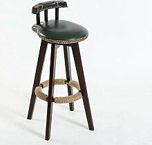 Lh$yu Retro Küchenhocker mit hölzernen Beinen