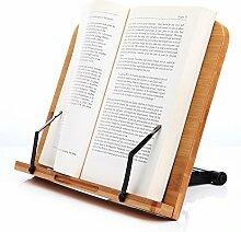 LH246 Leseständer Buchhalter aus Natur Bamboo,