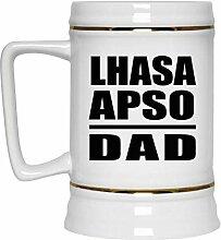 Lhasa Apso Dad - Beer Stein Bierkrug Keramik