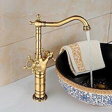 LHbox Alle Kupfer Antik, heißes und Kaltes Wasser