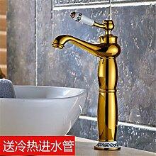 LHbox Das Kupfer Gold Wasserhahn Warmes und Kaltes