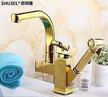 LHbox Gold Waschbecken Wasserhahn Warmes und