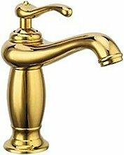 LHbox Wasserhahn Messing Gold Hahn Waschbecken mit