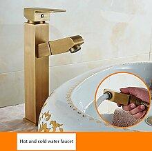 LHbox Ziehen Sie Alle Kupfer Wasserhahn Waschtisch