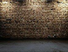 LHDLily 3D-Antike Ziegel Gemusterten Wandbild Wohnzimmer Sofa Tv Hintergrund Wand Schlafzimmer Studie Lobby Flur Wallpaper Wandbild 150cmX100cm