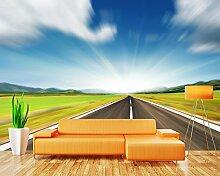 LHDLily 3D Autobahn Wandbild Wohnzimmer Tv