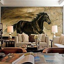 LHDLily 3D Black Horse Wandbild Wohnzimmer Sofa Tv