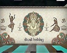 lhdlily 3D Graffiti Wandbild Kleidung STORE Dance Raum Hintergrund Schlafzimmer Yoga Studio Coffee House Tapete Wandbild 200150cm