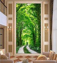 LHDLily 3D Großes Wandbild Tapeten Eingang Einstellung Wand Wohnzimmer Moderne Tapete 350cmX250cm