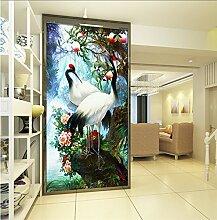 LHDLily 3D-Hintergrund Wandbild Tapete Wohnzimmer Schlafzimmer Gang Flur Balkon Wallpaper 300cmX200cm