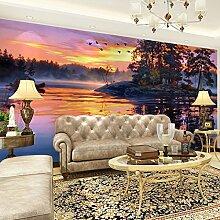 LHDLily 3D Hintergrundbild Tapete Fresken Wandaufkleber Verdickung Wunderschöne Landschaft Muster Für Wand Dekor Home Improvement 200Cmx150Cm