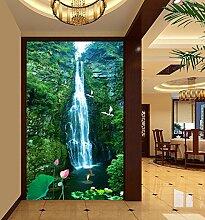 LHDLily 3D Stereo Berg Und Wasser Wandbild
