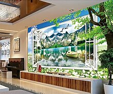 LHDLily 3D Stereo Wallpaper Wandbild Sofa Tv Wand