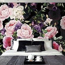LHDLily 3D Wallpaper Mural Europäischen Mode Floral Tapete Persönlichkeit Wohnzimmer Tv Hintergrund Tapete Benutzerdefinierte Wandbild 150Cmx100Cm