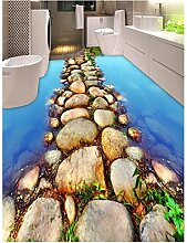 LHDLily 3D Wallpaper Wand Stricker Fluss Stein