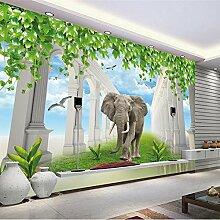 LHDLily 3D Wandbild Elefant Kinderzimmer Sofa