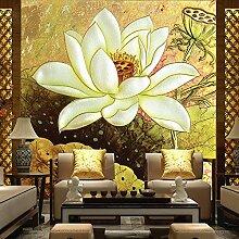 LHDLily 3D Wandbild Tapete Wallpaper Fresken Mural 3D Stereo Tapete Wohnzimmer Tv Hintergrund Wandrelief Chinesischen Wallpaper Wandbild 400cmX300cm