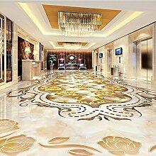 LHDLily 3D Wandbild Tapete Wallpaper Fresken Mural Stereo 3D Marmor Stripe Parkettboden Wallpaper Custom Zimmer Selbstklebende Stock Wandbild 150cmX100cm