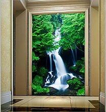 LHDLily 3D Wasserfall Landschaft Tapete Grüne