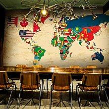 LHDLily 3D-Weltkarte Wallpaper Wandbild Wohnzimmer