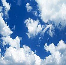 LHDLily Blauer Himmel Und Weiße Wolke Design 3D