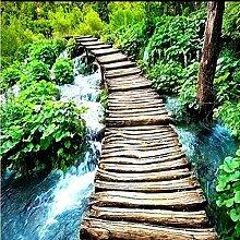 LHDLily Hd Kleine Brücke Wasser Landschaft
