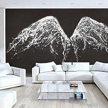 lhdlily Moderne minimalistische schwarz groß 3D Tapete Wandbild Living Fashion Hintergrund Tapete 350x 250cm