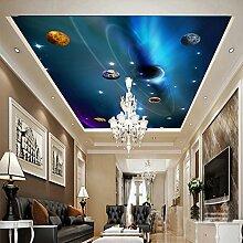 LHDLily Star Sky 3D Wandbild Tapete An Der Decke 200Cmx150Cm