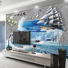 LHDLily Tv Hintergrundbild Wandbild 3D Wohnzimmer