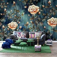 LHDLily Von Hand Bemalt Flower Garden Tapete Wohnzimmer Schlafzimmer Wallpaper Wandbild 200cmX150cm