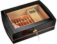 LHFJ Zigarre Humidor Cedar Holz Durchsichtige Glas