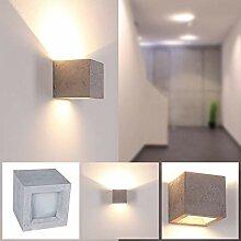 LHG Gips-Wandleuchte LED in Beton-Optik,