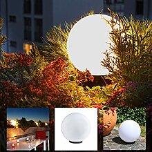 LHG Kugelleuchte 30 cm Ø, weiße Gartenlampe,