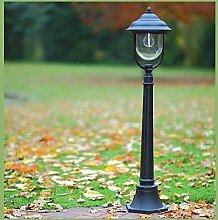 LHG Wegeleuchte in Schwarz | Außenlampe in klassischer Form | Wegelampe E27 | Außenleuchte Höhe 112cm | Wegbeleuchtung Außen