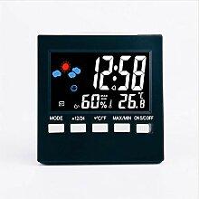 LHHLH Wecker Farbbildschirm Temperatur Und