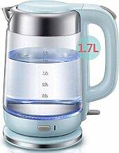 LHJCN Glas-Wasserkocher 1,7 l Öko-Akku-Glaskessel