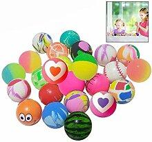 LHKJ 24 Stücke Springball Hüpfball,Kinder